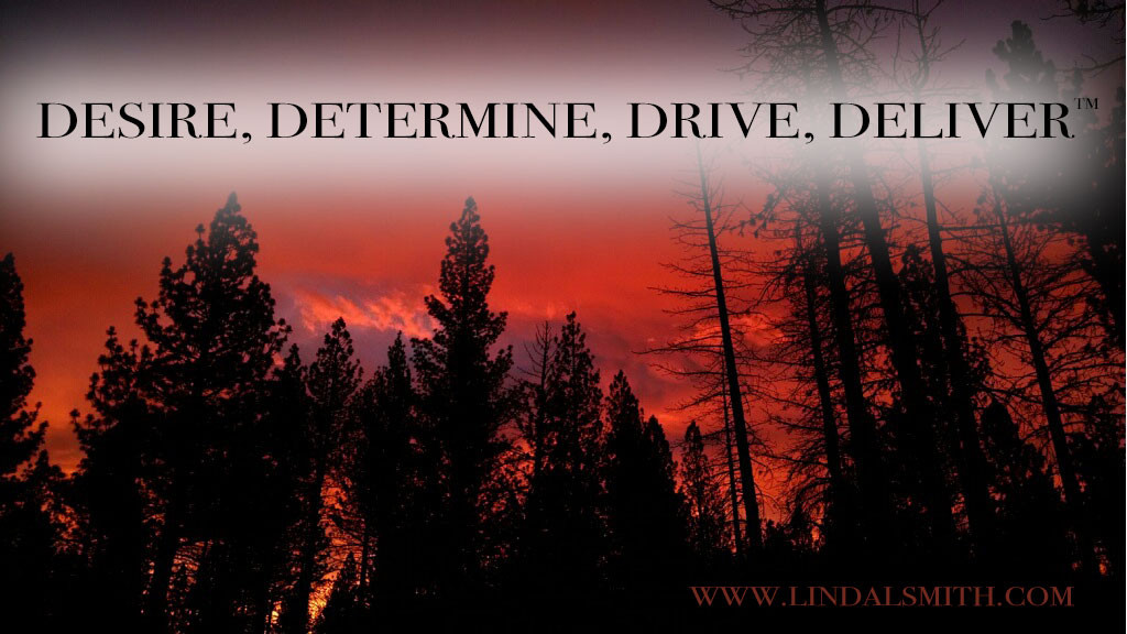 Desire, Determine, Drive, Deliver, 4D's of business success
